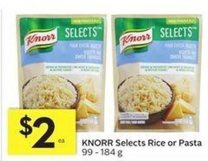 Knorr Selects Rice or Pasta