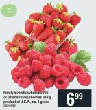 Family Size Strawberries - 2 Lb Or Driscoll's Raspberries - 340 G