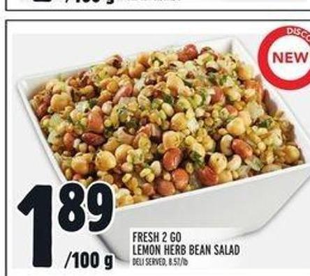 Fresh 2 Go Lemon Herb Bean Salad