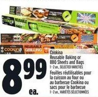 Cookina Reusable Baking Or Bbq Sheets And Bags