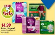Poise - Depend  Incontinence Protection