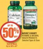Nature's Bounty Vitamins & Natural Health Products