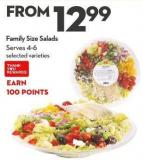 Family Size Salads Serves 4-6