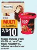 Häagen-dazs Ice Cream - 414-500 Ml - Bars - 3's Or Nestle Kitkat - 500 Ml