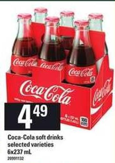 Coca-cola Soft Drinks - 6x237 ml