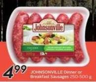 Johnsonville Dinner or Breakfast Sausages 250 - 500 g