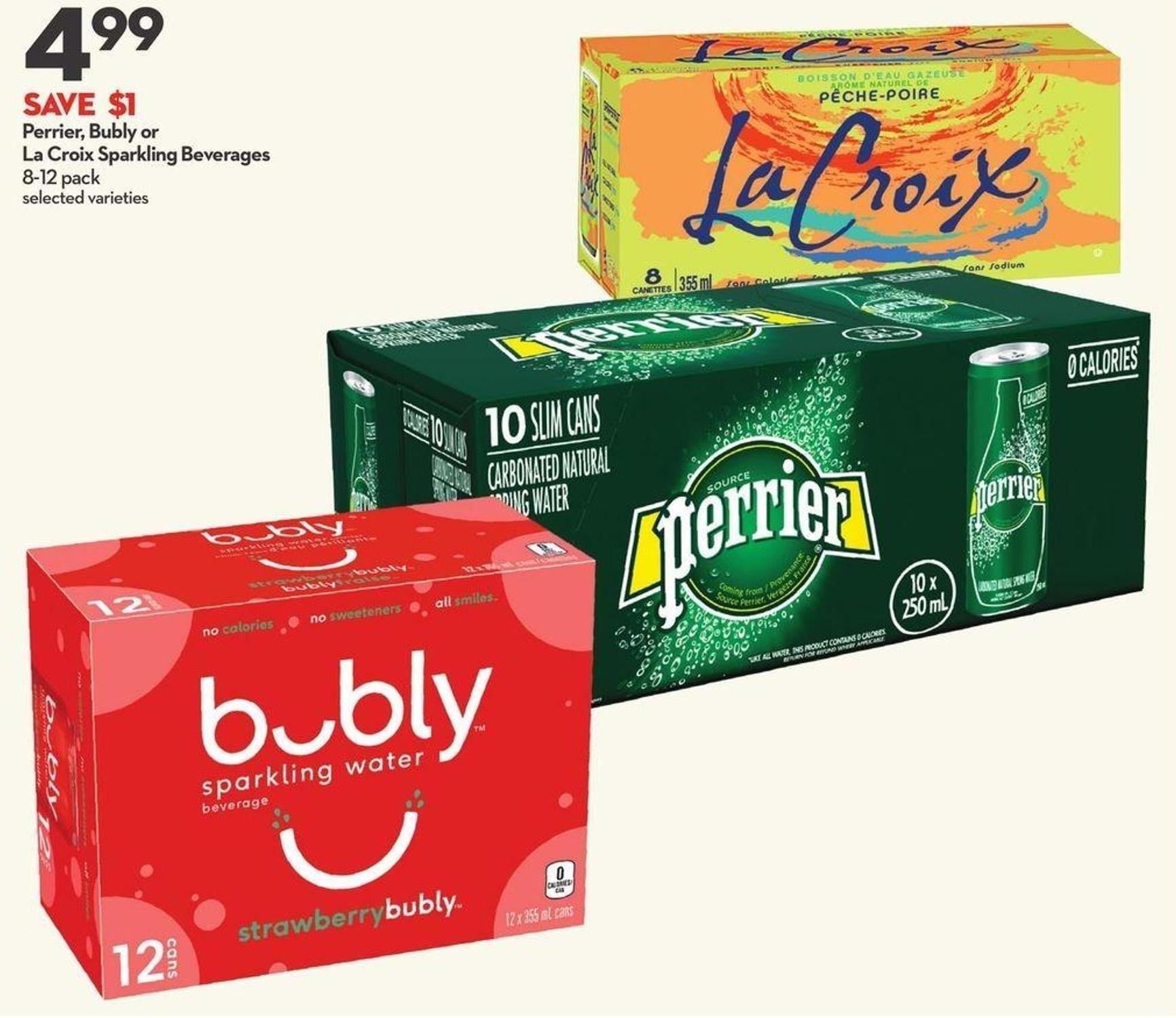 Perrier - Bubly or La Croix Sparkling Beverages