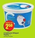 Compliments Whipped Topping 1 L