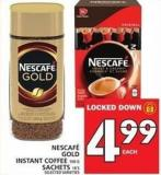 Nescafé Gold Instant Coffee Or Sachets