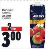 Allen's Juice 1 L - Or 1.79 Ea.