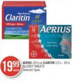 Aerius(20's) or Claritin (15's - 30's) Allergy Tablets