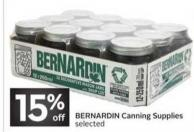 Bernardin Canning Supplies
