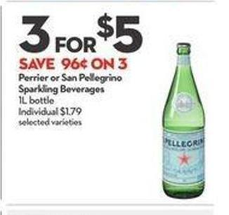 Perrier or San Pellegrino Sparkling Beverages