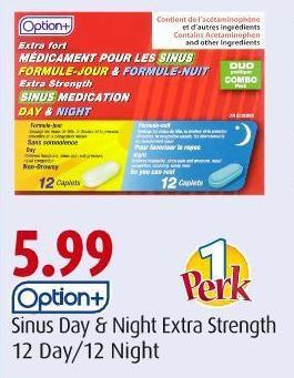 Option+   Sinus Day & Night Extra Strength   12 Day/12 Night