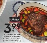Sterling Silver Cross Rib Pot Roast Cut From Canada Aaa Grade Beef 8.80/kg