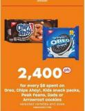 Oreo - Chips Ahoy! - Kids Snack Packs - Peek Feans - Dads Or Arrowroot Cookies