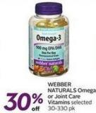 Webber Naturals Omega or Joint Care Vitamins