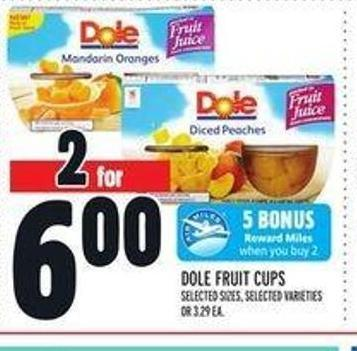 Dole Fruit Cups