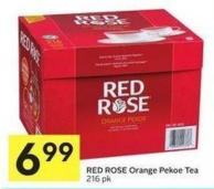 Red Rose Orange Pekoe Tea 216 Pk