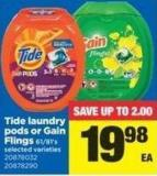 Tide Laundry PODS Or Gain Flings - 61/81's
