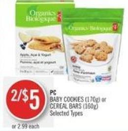 PC Baby Cookies (170g) or Cereal Bars (160g)
