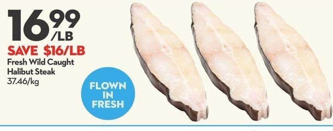 Fresh Wild Caught Halibut Steak
