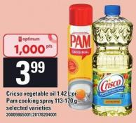 Cricso Vegetable Oil 1.42 L Or Pam Cooking Spray - 113-170 G