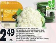 Cauliflower Product Of Canada - Canada No. 1 Grade Mini Cucumbers 907 G - Product Of Ontario - Canada No. 1 Grade The Little Potato Company Fresh Creamer Potato Kits 454 g
