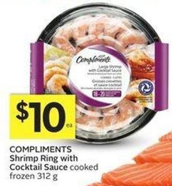 Compliments Shrimp Ring With Cocktail Sauce