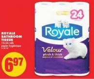 Royale Bathroom Tissue - 12=24 Rolls
