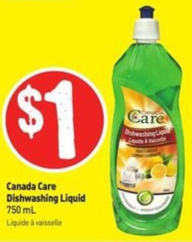 Canada Care Dishwashing Liquid 750 mL