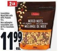 Irresistibles Mixed Nuts With 60% Peanuts 908 g