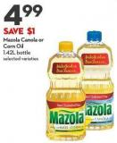 Mazola Canola or  Corn Oil  1.42l Bottle