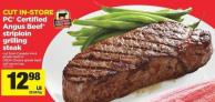 PC Certified Angus Beef Striploin Grilling Steak