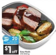 Easy Meals - 20 Air Miles Bonus Miles