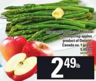 Asparagus Product Of Mexico Or Honeycrisp Apples