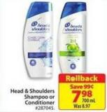 Head & Shoulders Shampoo or Conditioner