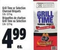 Grill Time Or Selection Charcoal Briquets 3.76 - 3.77 Kg