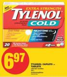 Tylenol Caplets or Tablets - 20's