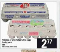 Prestige Or Gray Ridge White Eggs - 18's