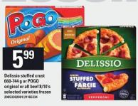 Delissio Stuffed Crust 660-744 G Or Pogo Original Or All Beef 8/10's