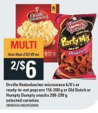 Orville Redenbacher Microwave 6/8's Or Ready-to-eat Popcorn 116-200 G Or Old Dutch Or Humpty Dumpty Snacks 200-290 G