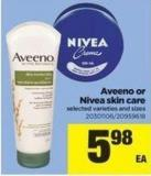 Aveeno Or Nivea Skin Care