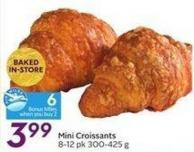 Mini Croissants 8-12 Pk 300-425 g 6 Air Miles Bonus Miles