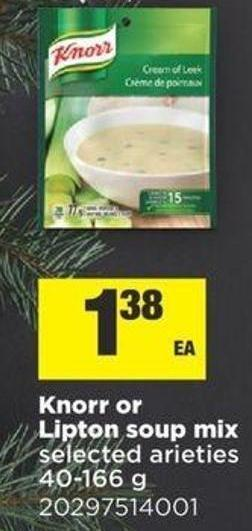 Knorr Or Lipton Soup Mix - 40-166 g