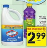 Pine-sol Cleaner 1.4 L Or Clorox Bleach 3.57 L