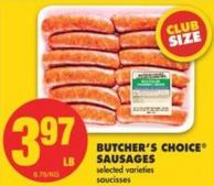 Butcher's Choice Sausages