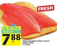 Fresh Rainbow Trout Fillets Family Pack