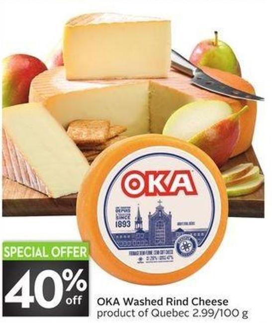 Oka Washed Rind Cheese