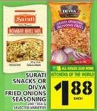 Surati Snacks Or Divya Fried Onions Seasoning